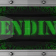 Pending on led — Stock Video