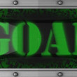 Goal on led - Stok fotoğraf