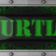 Stock Video: Turtle on led