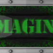 Imagine on led — Stock Video