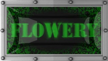 Flowery on led — Stockvideo