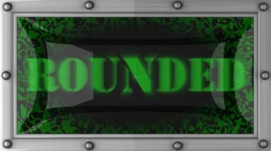 Rounded on led — Stok video