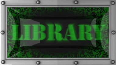 Library on led — Stock Video