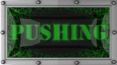 Pushing on led — Stockvideo
