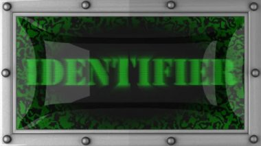 Identifier on led — Vídeo de stock