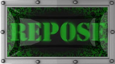 Repose on led — Stock Video