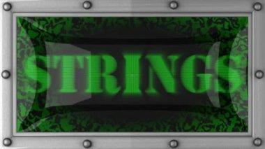 Strings auf geführt — Stockvideo