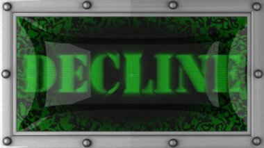 Decline on led — Stock Video