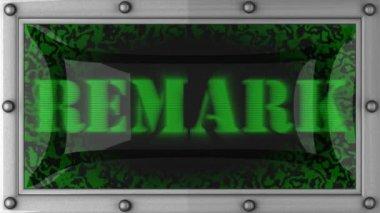 Remark on led — Stock Video