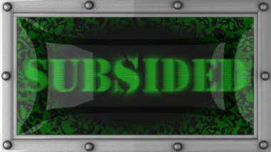 Subsided on led — Stock Video