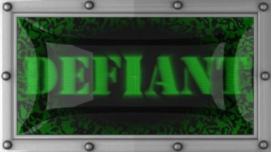 Defiant on led — Stock Video