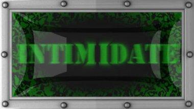 Intimidate on led — Stock Video