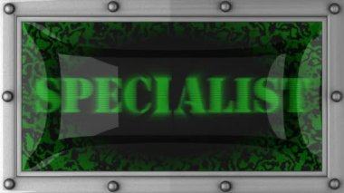 Specialist on led — Stock Video