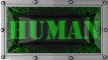Human on led — Stock Video