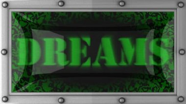 Dreams on led — Wideo stockowe