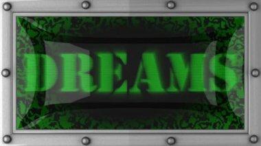 Träume auf geführt — Stockvideo