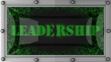 Leadership on led — Stock Video