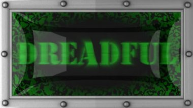 Dreadful on led — Stock Video