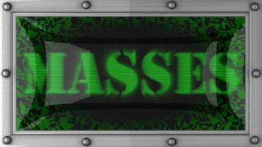 Masses on led — Stock Video