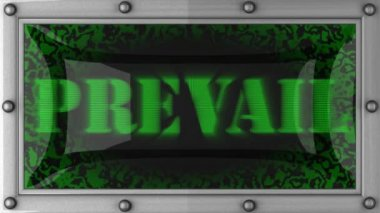 Prevail on led — Stock Video