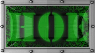 Hoe on led — Video Stock