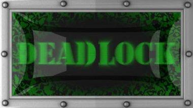 Deadlock on led — Stock Video
