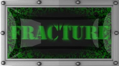 Fracture on led — Stockvideo