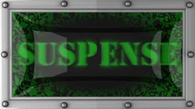 Suspense on led — Stock Video