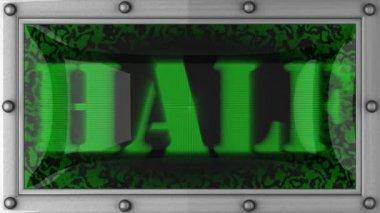 Half on led — Stock Video
