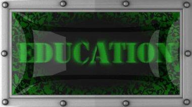 Educação em led — Vídeo Stock