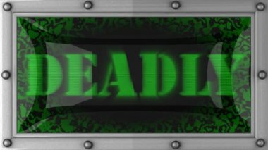 Deadly on led — Stok video