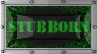 Stubborn on led — Stock Video