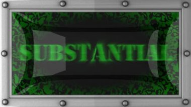 Substantial on led — Stock Video
