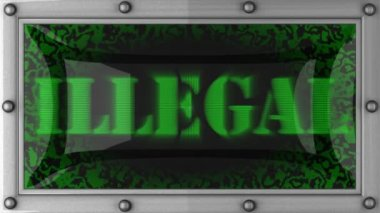 Illegal on led — Vídeo de Stock
