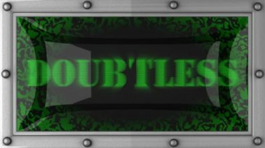 Doubtless on led — Stock Video
