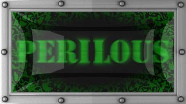 Perilous on led — Stok video