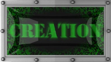 Creation on led — Stock Video