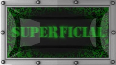 Superficial on led — Stock Video