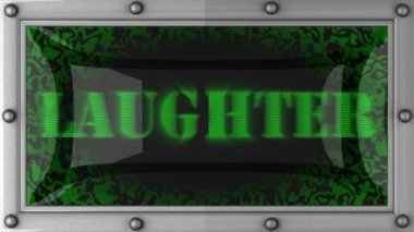 Laughter on led — Stock Video