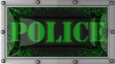 Policja na led — Wideo stockowe