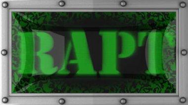 Rapt on led — Stock Video
