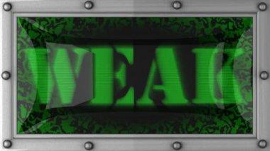 Weak on led — Stock Video #14024545