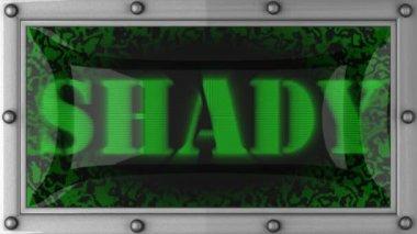 Shady on led — Stock Video