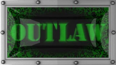Outlaw on led — Stock Video