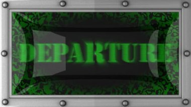 Departure on led — Stock Video