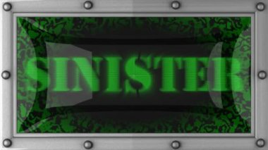 Sinister on led — Stock Video