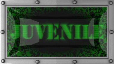 Juvenile on led — Stock video