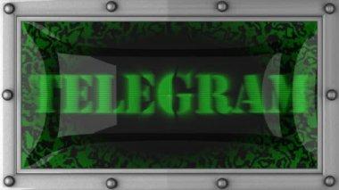 Telegram on led — Stock Video