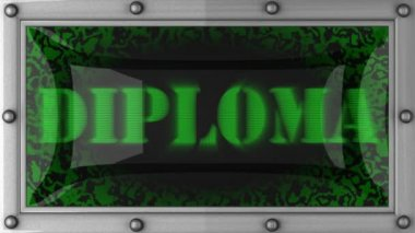 Diploma on led — Stock Video