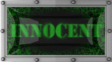 Innocent on led — Video Stock